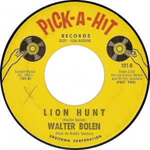 Walter Bolen, Lion Hunt (Part Two) (Pick-A-Hit 101-B)