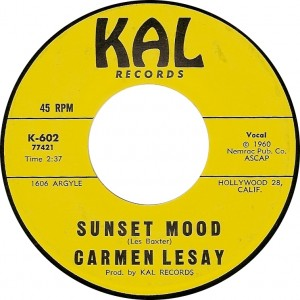 Carmen Lesay, Sunset Mood (Kal K-602)