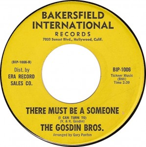 The Gosdin Bros., There Must Be Someone (I Can Turn To) (Bakersfield International BIP-1006)