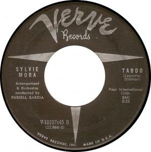 Sylvie Mora, Taboo (Verve V-10197x45 B)