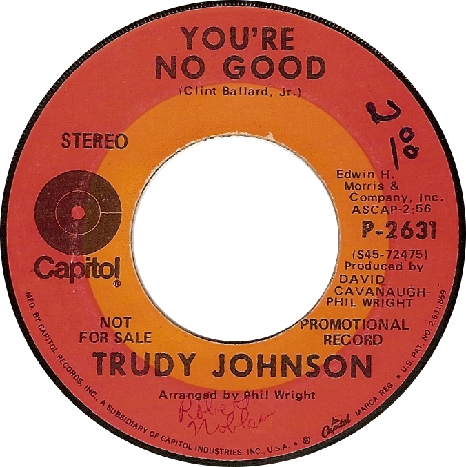Trudy Johnson, You're No Good (Capitol P-2631)