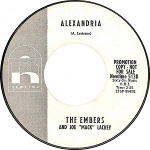 The Embers and Joe Mack Lackey, Alexandria (Newtime 513B)