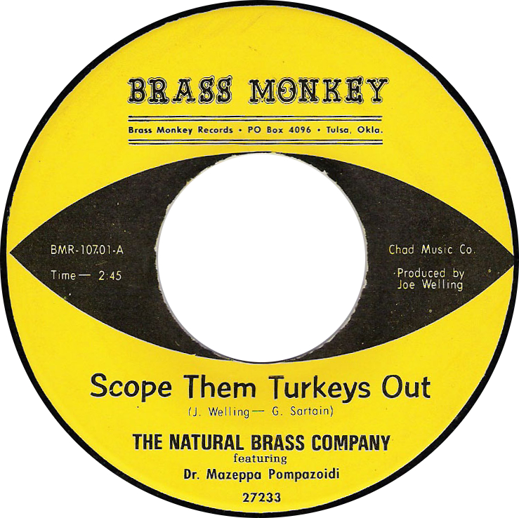 Natural Brass Company featuring Dr. Mazeppa Pompazoidi, Scope Them Turkeys Out (Brass Monkey BMR-107.01-A)