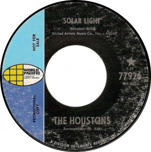 The Houstons, Solar Light (World Pacific 77926)