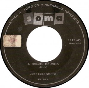 Jerry Berry Quintet, A Tribute to Miles (Soma 1117x45)