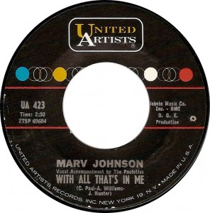 Marv Johnson, With All That's In Me (UA 423)
