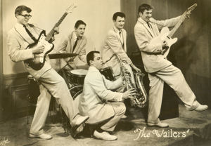 The Wailers, circa 1959. From left to right are Rich Dangel, Mike Burk, Mark Marush, Kent Morrill and John Greek.