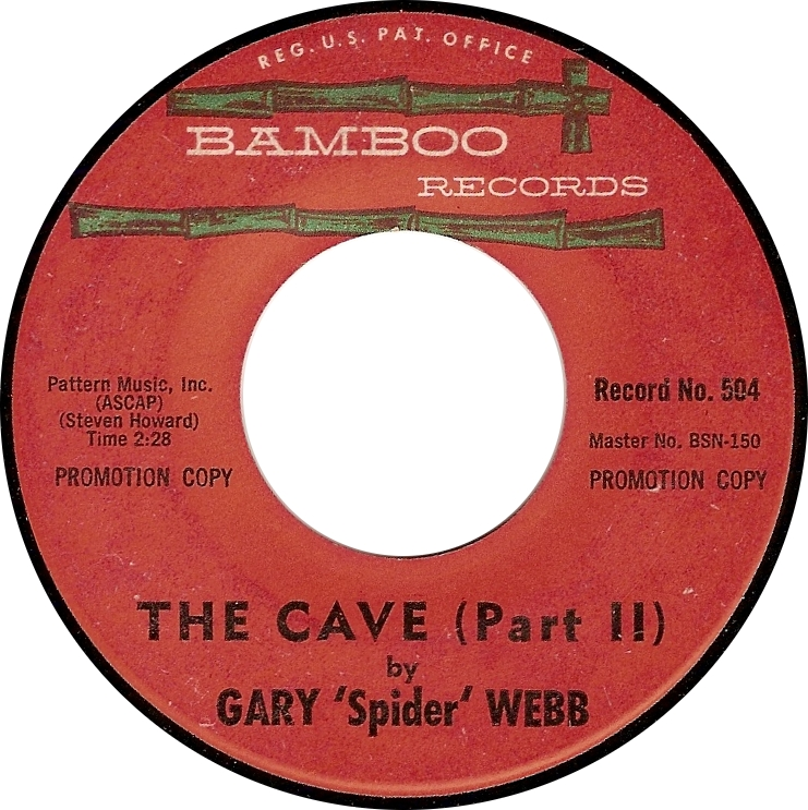 """Gary """"Spider"""" Webb, The Cave (Part II) (Bamboo 504)"""