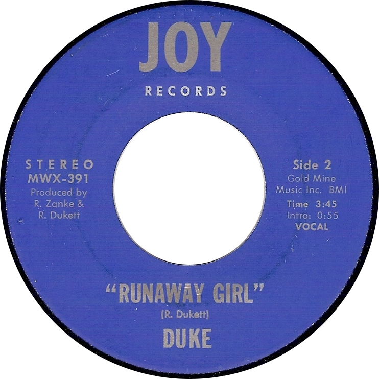 Duke, Runaway Girl (Joy MWX-391)