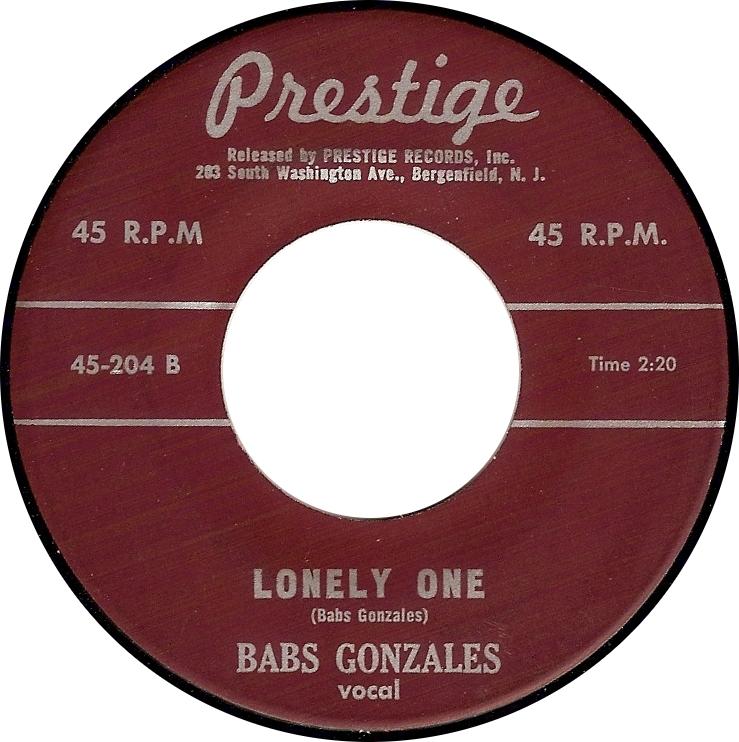 Babs Gonzales, Lonely One (Prestige 45-204B)