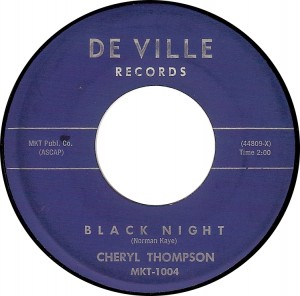 Cheryl Thompson, Black Night (Deville MKT-1004)