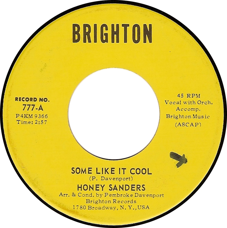 Honey Sanders, Some Like It Cool (Brighton 777-A)