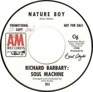 Richard Barbary: Soul Machine, Nature Boy (A&amp;M 953)