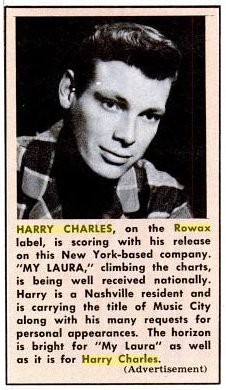 Singer Harry Charles in 1963