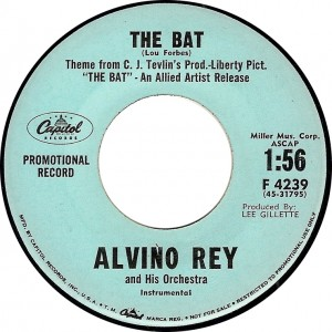 "Alvino Rey and His Orchestra, ""The Bat"" (Capitol F 4239)"