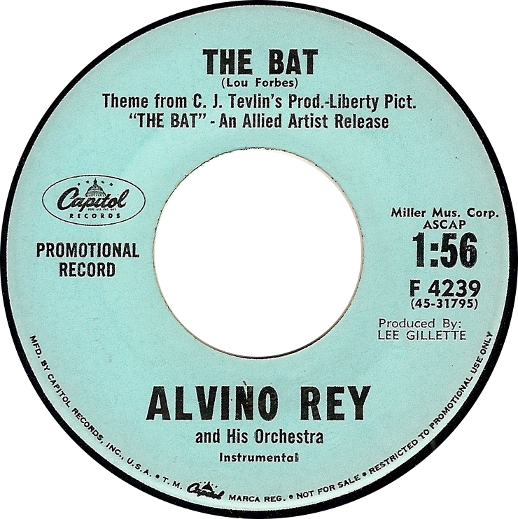 """Alvino Rey and His Orchestra, """"The Bat"""" (Capitol F 4239)"""