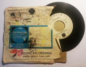 Envelope direct from Orpheum Records.  Postmark August 1968.