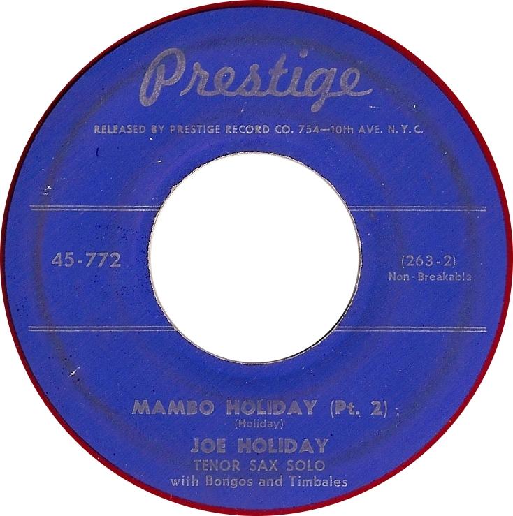 Joe Holiday, Mambo Holiday (Pt. 2) (Prestige 45-772)